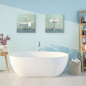 Juego de 2 cuadros Damask Bath Tub - Sink