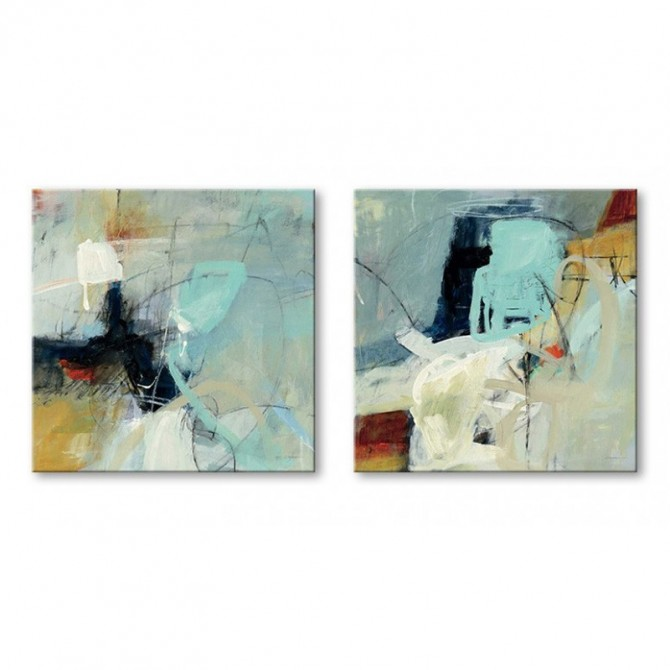 Set of 2 Abstract Canvas - Apex