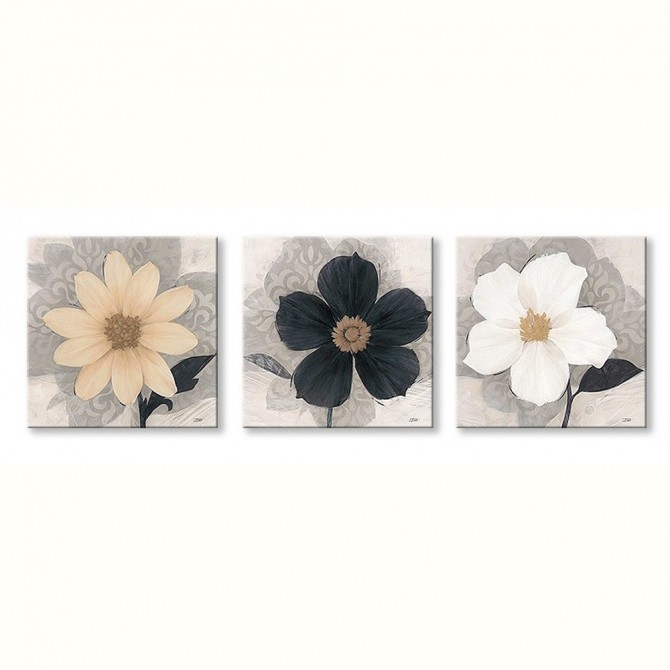 J3-M00-Set of 3 Canvas Elegance Creme - Elegance Noir - Elegance Blanc