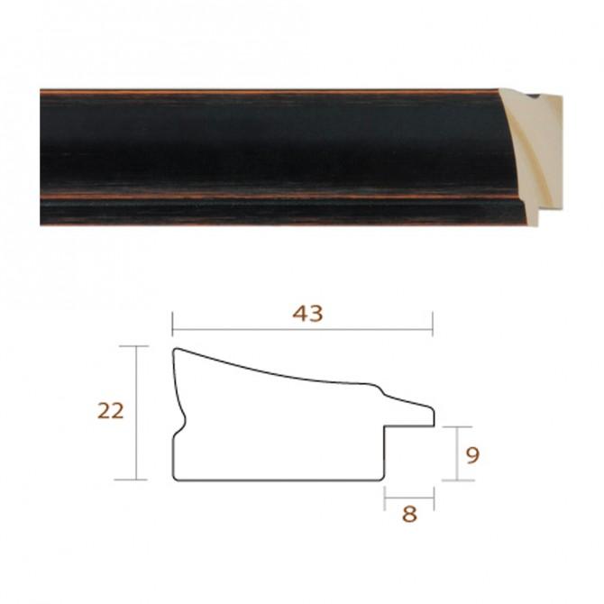 Marco Negro Clásico Liso Para DIN A4