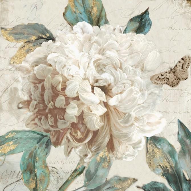 copy of Juego de 2 cuadros de flores con marco blanco