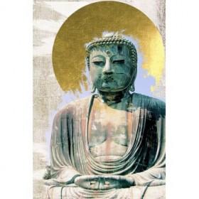 Japanese Buddha with Halo