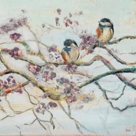 Spring Bird on Branch