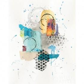Abstract Skyline II Indigo