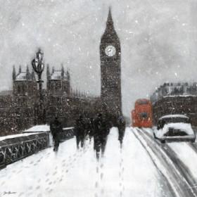 Snow Men, Westminster Bridge