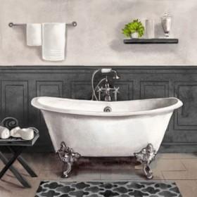Serene Bath II black and white