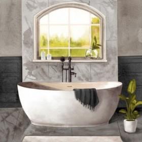 Marble Bath I black and white
