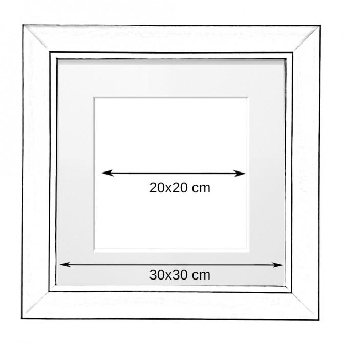 Wood square frame. 3 units.