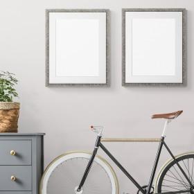 2 units.Grey square frame.