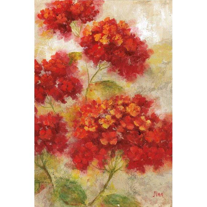 Red Floral I
