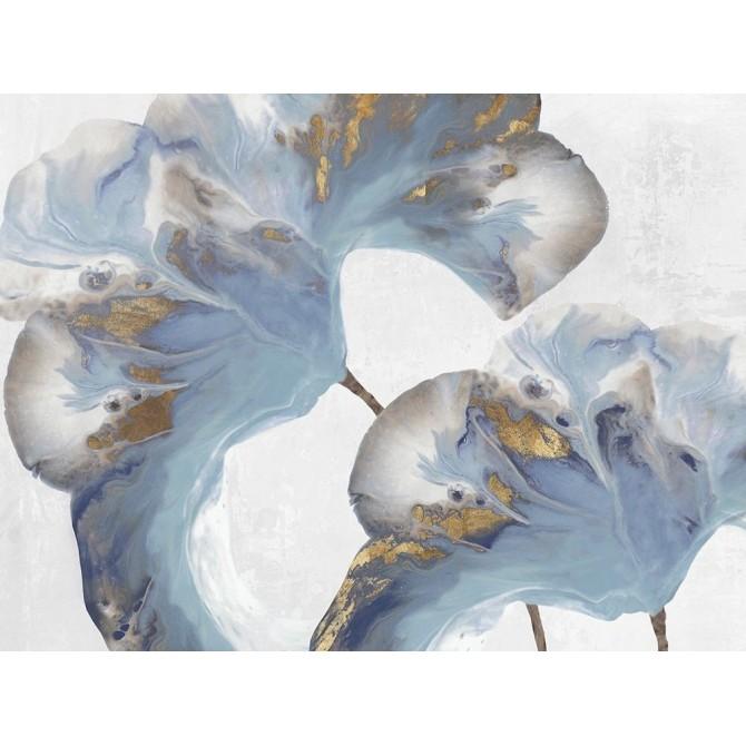 Juego de 2 cuadro flores azules