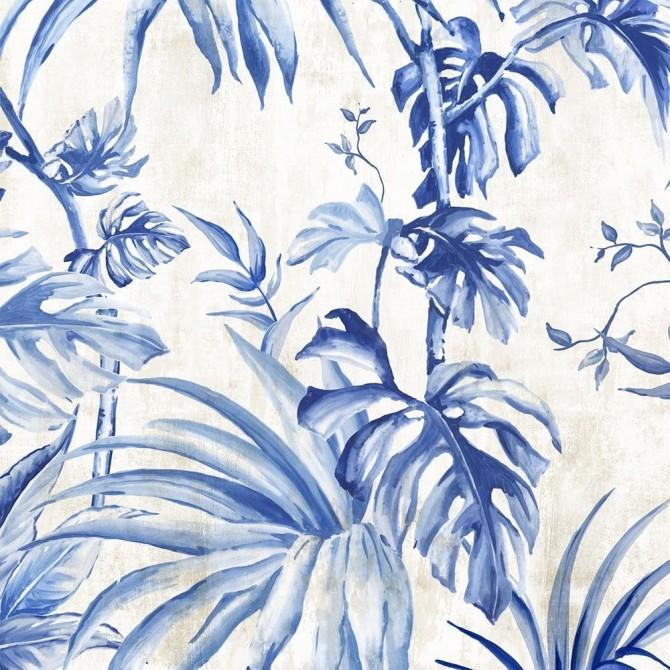 Juego de 2 cuadros de flores Palms Toile I & II