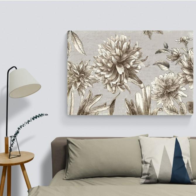 Cuadro moderno de flores clásicas Vintage Blooms