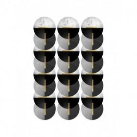Black Grey Gold Circles