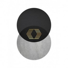 Black Grey Gold Circles 2