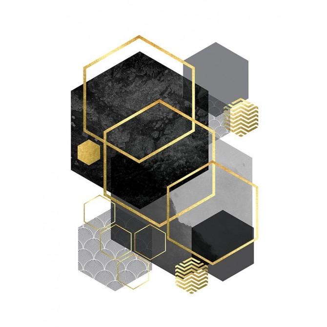 Black Grey Gold Geo 2