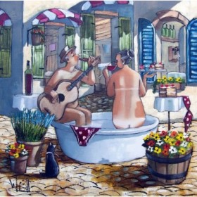 Bath and Guitar Serenade