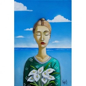 Lady and Lilies II