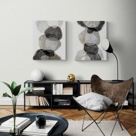 Juego de 2 cuadros abstractos Conglomerate
