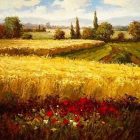 Wheat Fields and Roses