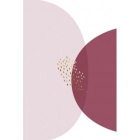 Abstract Minimalist Burgundy Gold 5