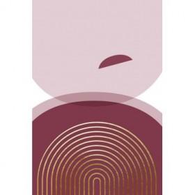 Abstract Minimalist Burgundy Gold 4
