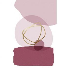 Abstract Minimalist Burgundy Gold 3