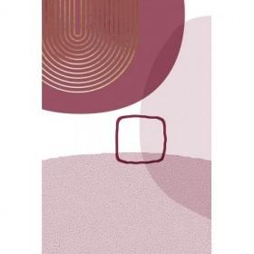 Abstract Minimalist Burgundy Gold 2