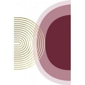 Abstract Minimalist Burgundy Gold 1