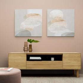 Juego de 2 cuadros abstractos - Pile Up I-II