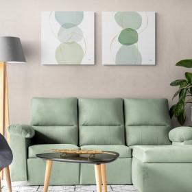 Juego de 2 cuadros abstractos- Pastel  Circles I-II