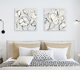 Bed head wall art. Two pieces