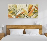 Warm tones wall art for bedroom