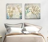 Cold tones wall art for bedroom