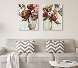 Cuadros Abstractos de Flores