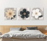 Black & White Flowers canvas prints