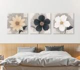 Cuadros Flores Blanco y Negro