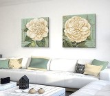 Green Flowers canvas prints