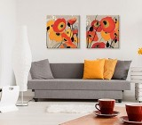 Orange Flowers canvas prints