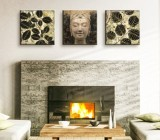 Colonial Living Room canvas prints