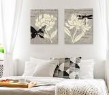 Cuadros Dormitorio Flores