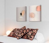 Scandinavian Bedroom canvas prints